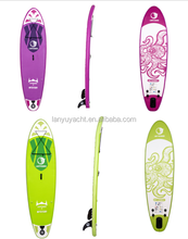 Surfing isup black eva pad green base color paddle surf inflate board