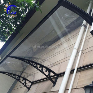 Diy aluminum frame polycarbonate simple awning cover ,waterproof awning