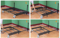 Strong furniture metal sliding sofa bed frame , modern sofa bed mechanism with big wheels