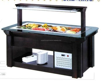 Genial Table Top Commercial Refrigerated Salad Bar