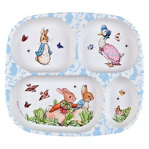 Eco-Friendly Melamine Baby Food Tray Kids Divided Dinner Plate