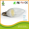 Ultrahigh cost performance Ceramic 3W E14 LED light candle bulbs not frosted series