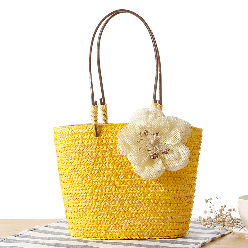 buy free shipping new fashion women straw woven handbag bohemia beach bag. Black Bedroom Furniture Sets. Home Design Ideas