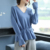 elegant women v-neck lace up long sleeve classic knitwear lady office casual pullovers slim fit french style winter jumpers