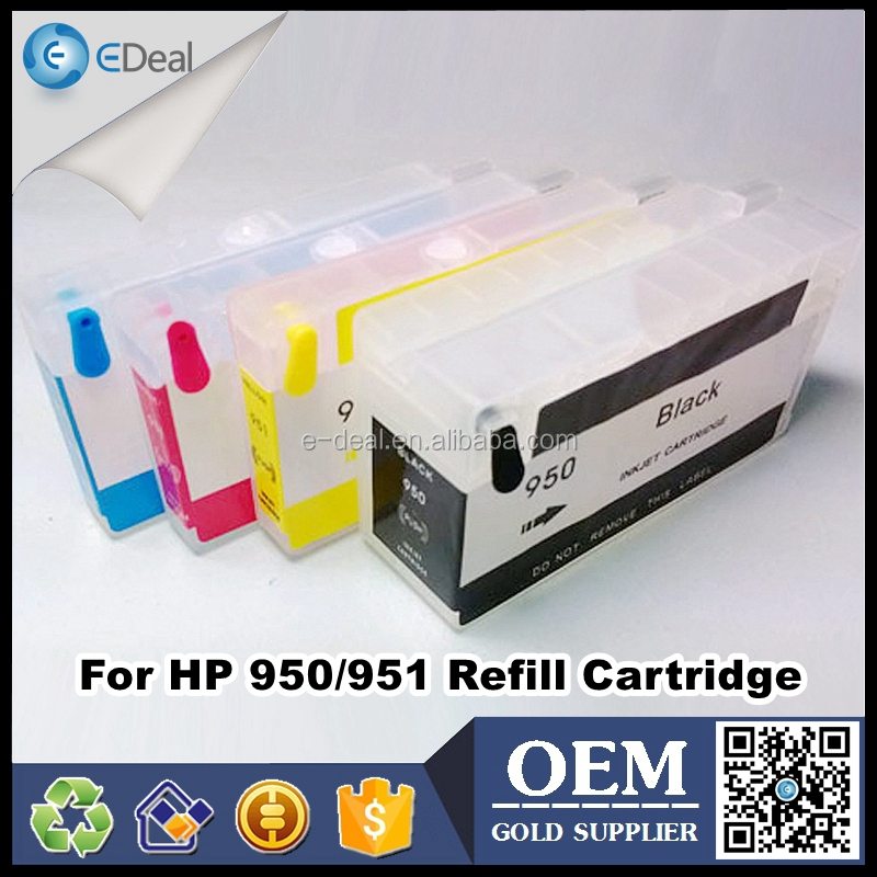 For HP 950 951 inkjet printer ink tank for HP officejet 8100 8600 8610 refillable ink cartridge with chip