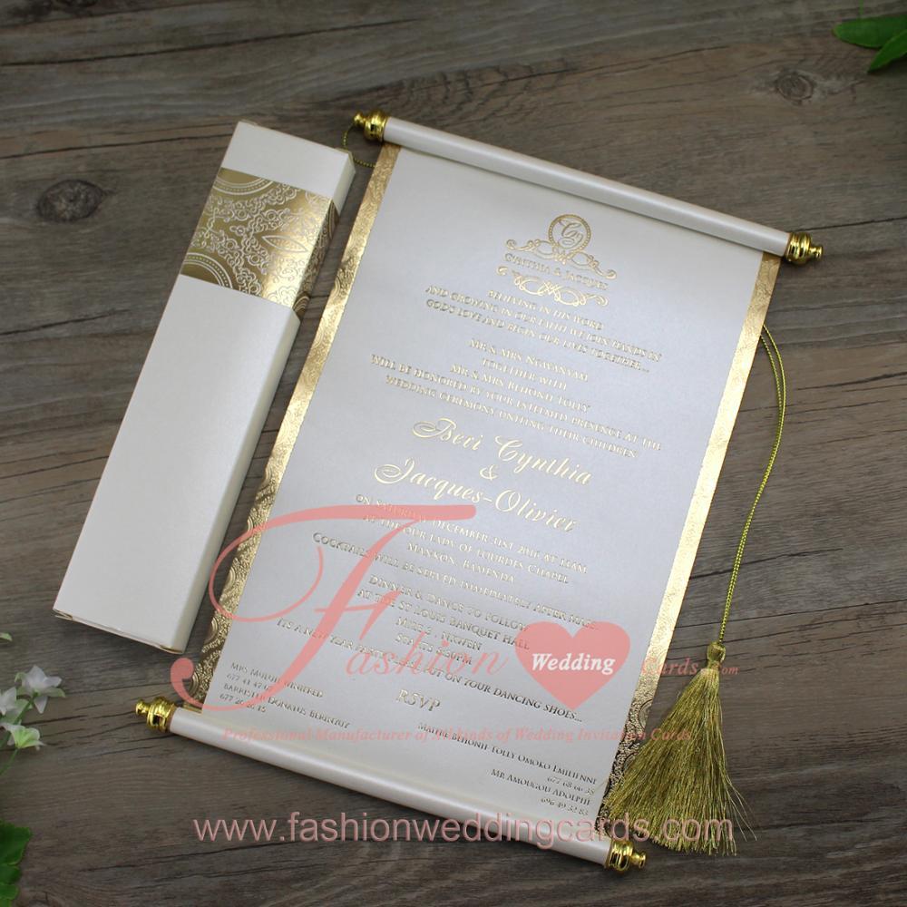 Cheap Customized Royal Scroll Design Elegant Indian Wedding ...