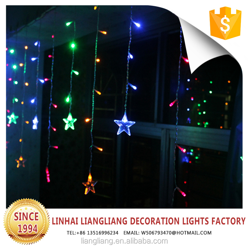hot sale cheap price 6m*3m christmas outdoor fairy led light curtain