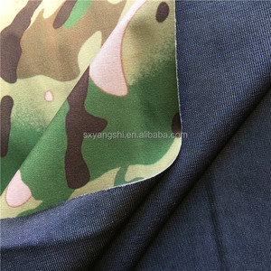 polyester stretch waterproof military army camouflage patterns print jacket fabric