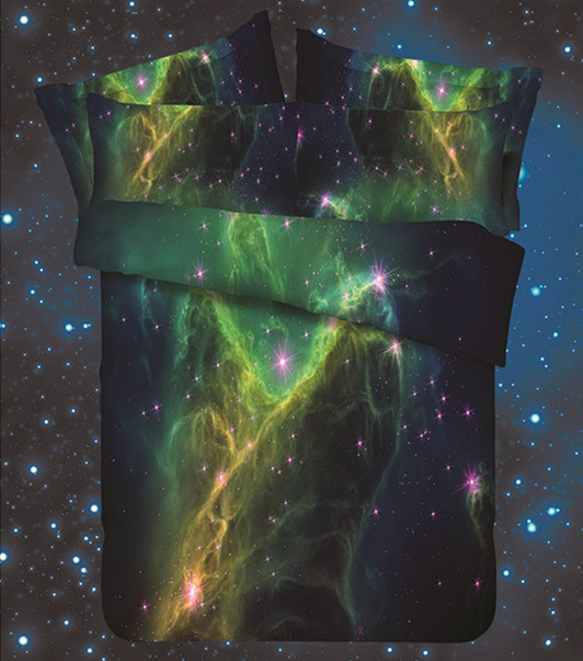 Stunning Multi Color Galaxy Theme Hd Digital 3d Bed Linen ...