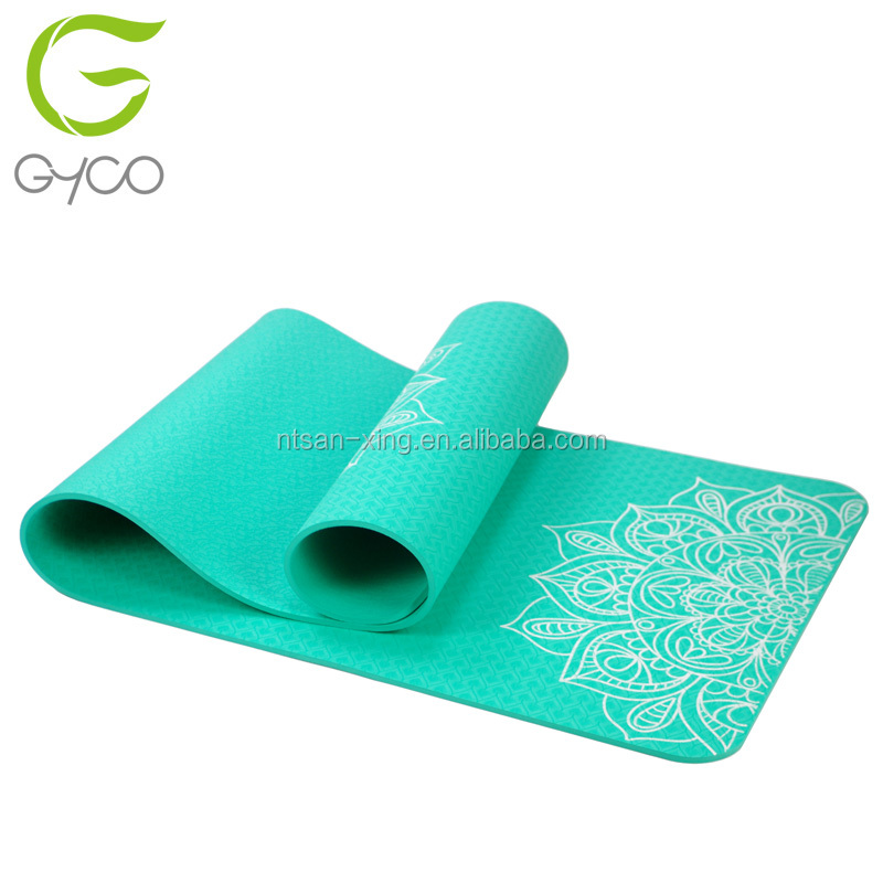 TPE Eco Friendly Yoga Mats Wholesale yoga mat custom print