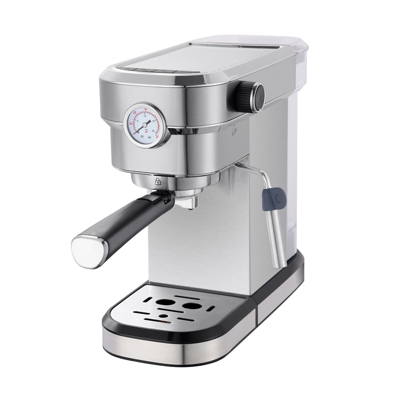 Stainless steel home espresso coffee machine