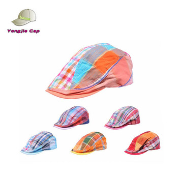 Cotton Newsboy Cap MultiColor Patchwork Ivy Driving Pub Cap Summer hat d121007bb0b
