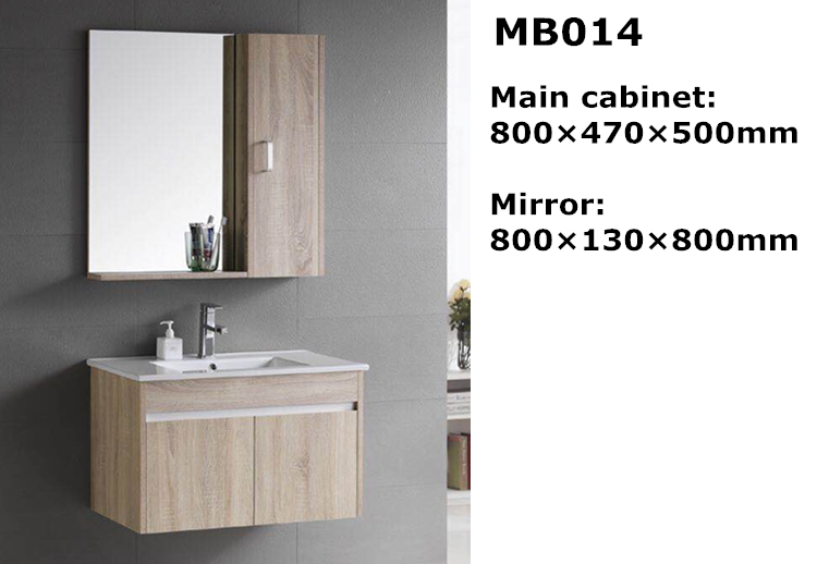 Wall hung poplar solid wood vanity bathroom furniture import