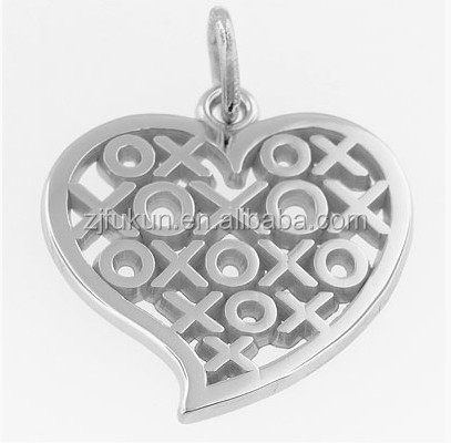 OX Hugs N Kisses Heart Charm Sincerity Love And Symbol Friendship Pendant