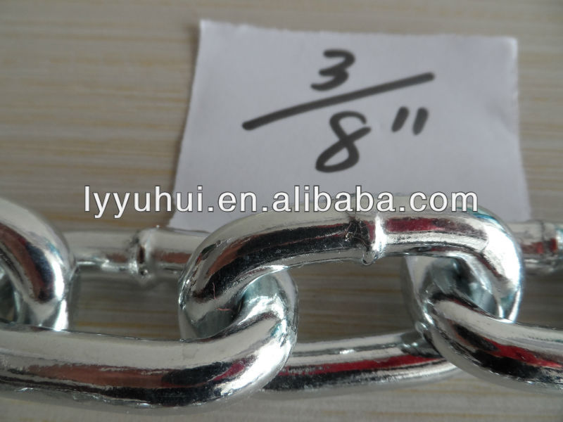 electro galvanized steel welded link chain for vietnam