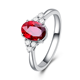 wholesale trendy 0.82ct genuine gemstone red ruby ring 18k gold jewellery