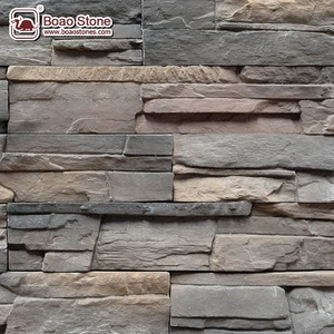 Fake concrete stone wall panel fence wall cladding