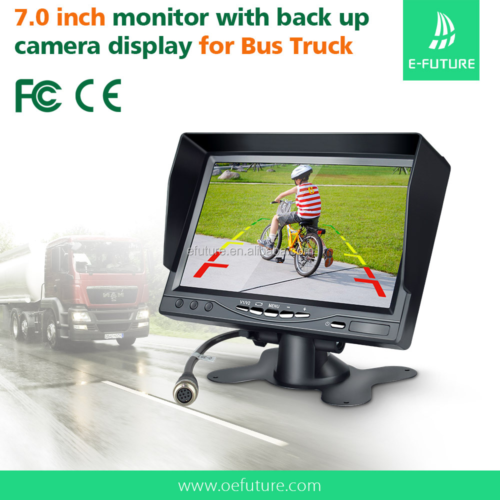 Super hot 7 inch LCD monitor stand alone bus/trailer/truck car monitor around view camera system
