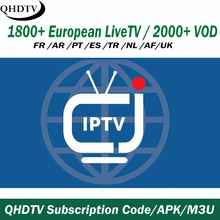 12 mesi Arabo Francia USA Latino IPTV per il Miglior 4 K Android IPTV Set Top <span class=keywords><strong>Box</strong></span> 1 anno IPTV canali QHDTV IPTV Pannello Rivendere