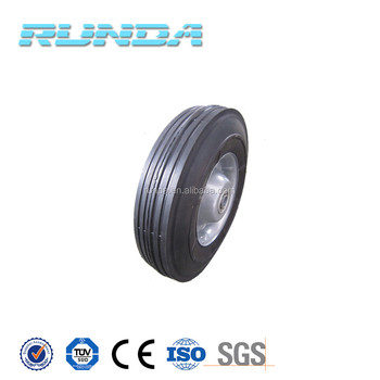 8inches wheel size semi solid rubber wheel for trolleys