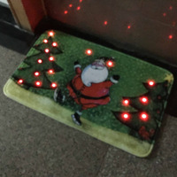 HS008 Sensor Sound Music Musical LED Light Christmas Halloween Welcome Door Floor Mats