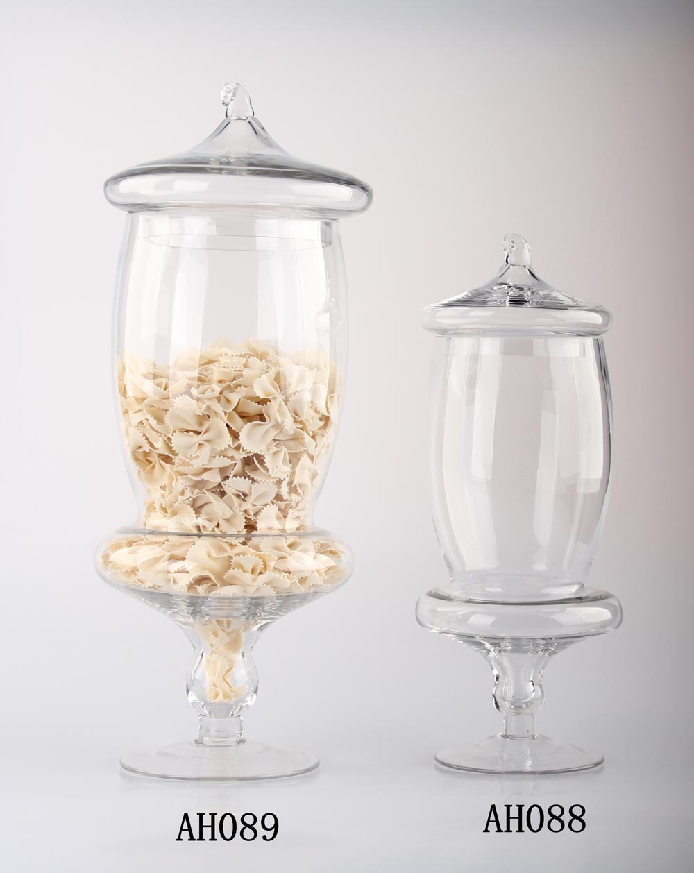 China factory Clear Glass Apothecary Food Jars