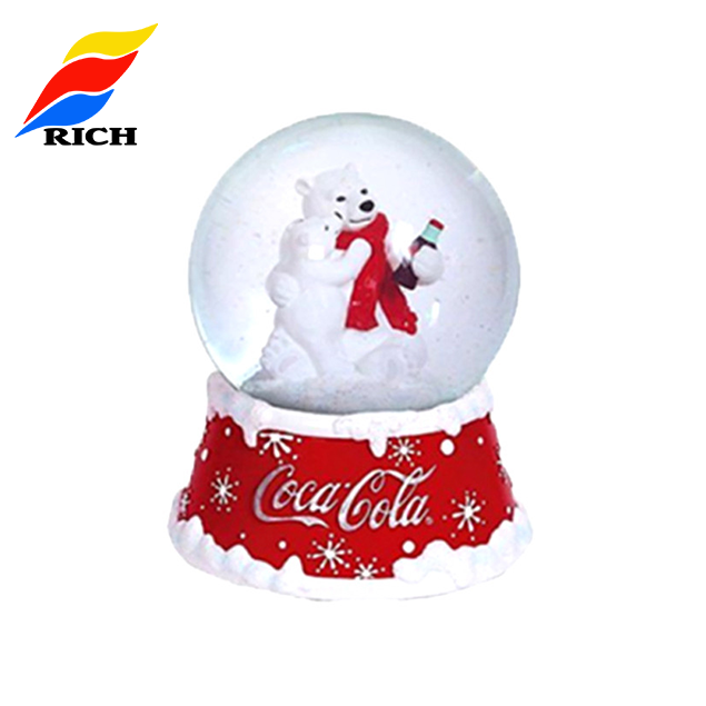 Cheap Decoration Custom Christmas Resin Snow Globe Souvenir