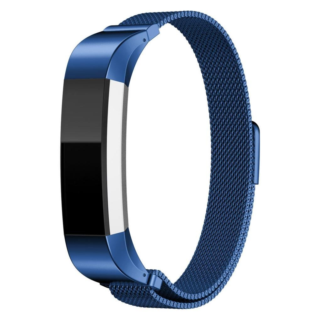 Fitbit Alta Smart Watch Band,Elevin(TM) Replacement Milanese Magnetic Loop Stainless Steel Band for Fitbit Alta Smart Watch (Blue)