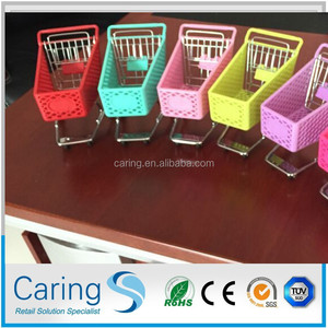 plastic mini shopping cart