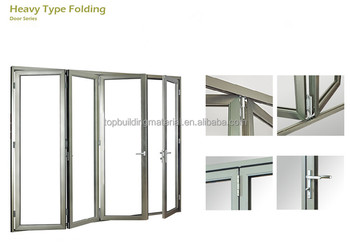 aluminum glass folding door