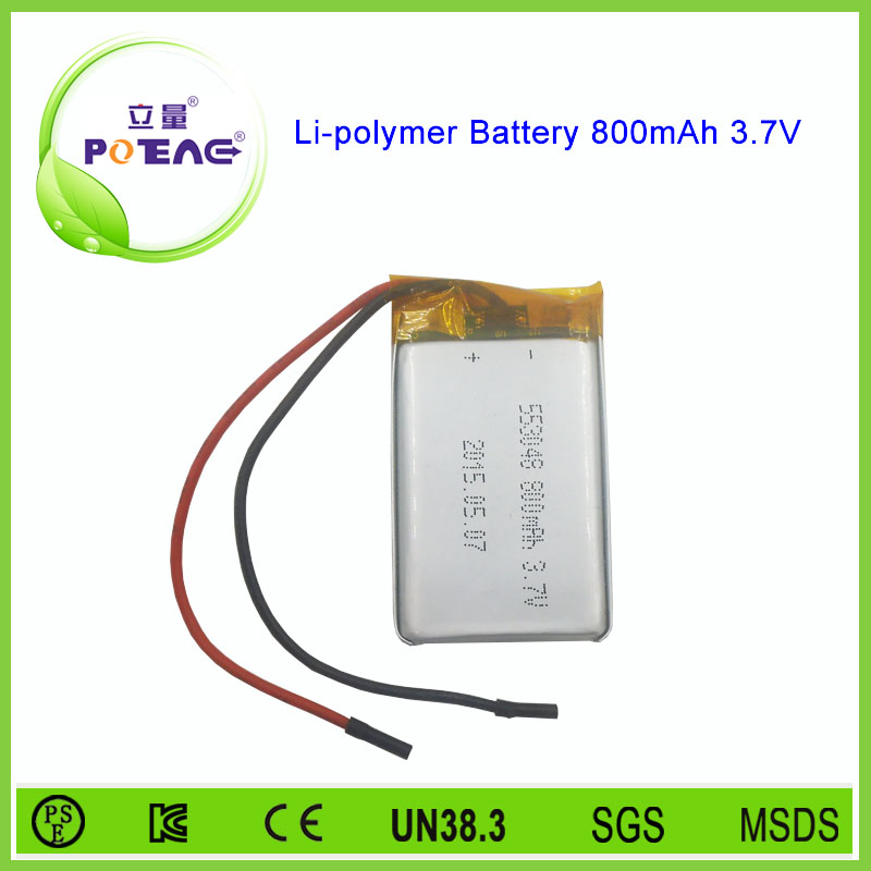 rechargeable 3.7v 800mah battery li-polymer for security alarm system