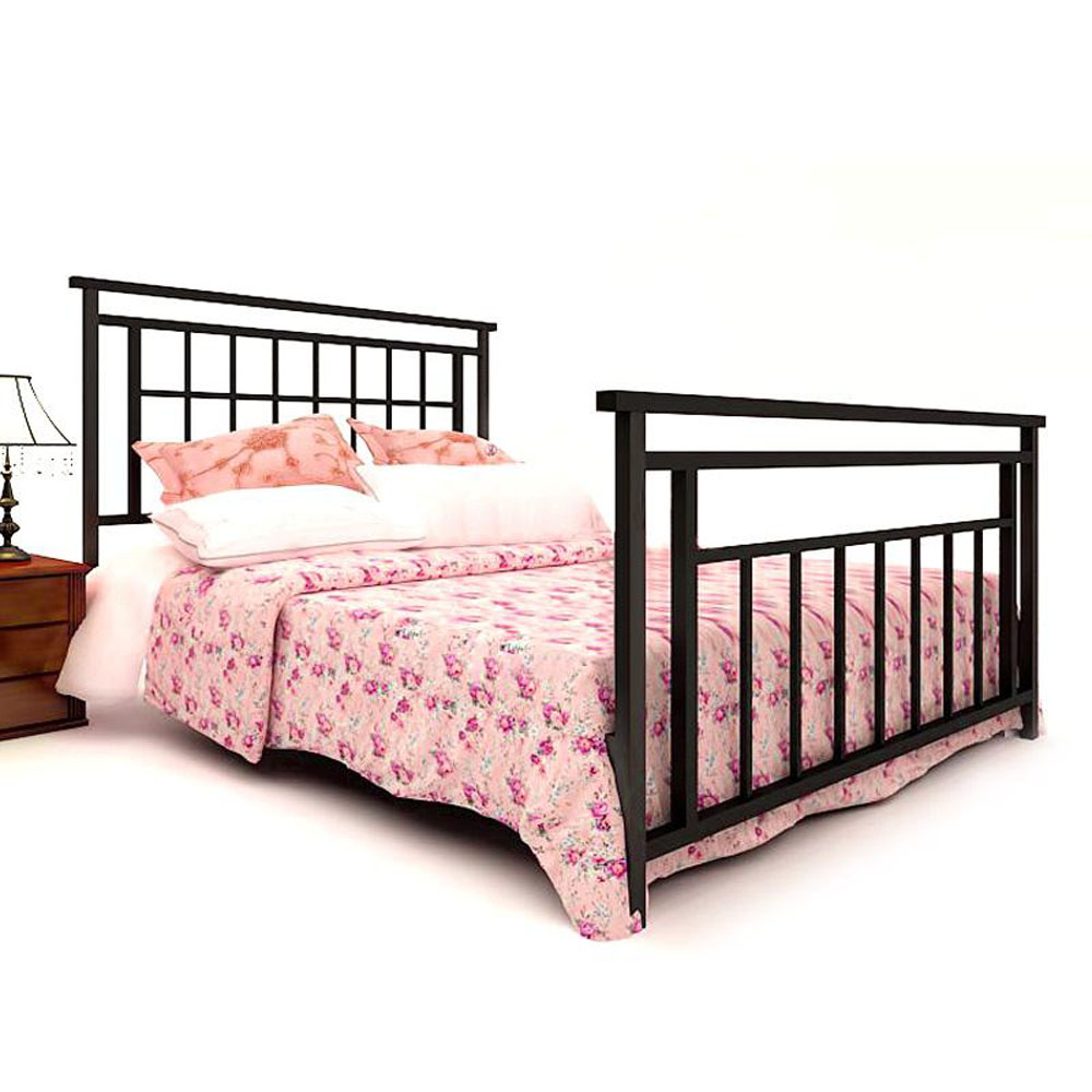 Queen Size Simple Bed Frame Wrought Iron