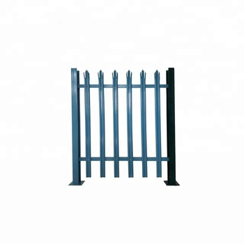 UK standard decorative palisade garden steel pvc coated europe fence