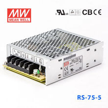 RS-75-5 60W 5V12A No load power consumption<0.5W AC-DC Single Meanwell Switch Power Supply