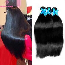 High quality 8a Brazilian Virgin Hair Straight weave 3 Bundles Brazilian Straight hair Rosa Hair products