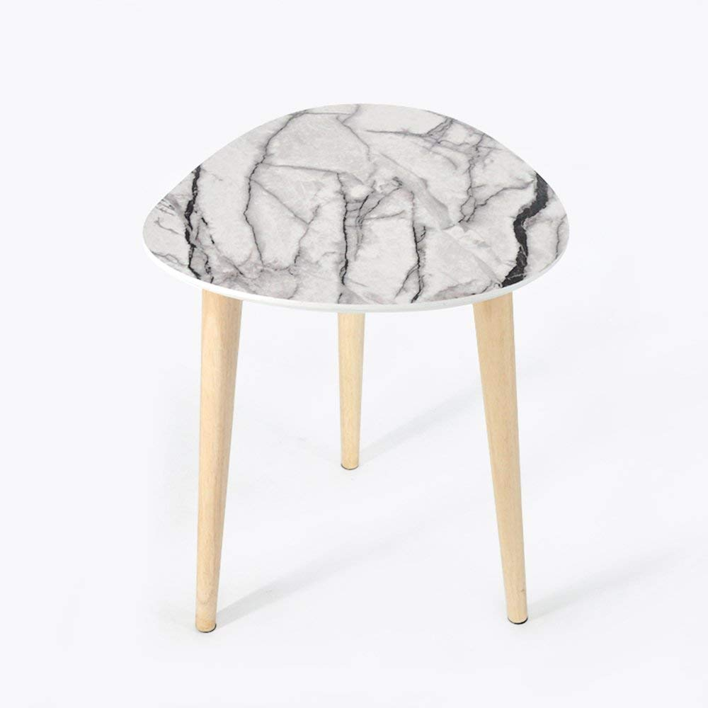 Bookshelf Feifei Coffee Tables Round Side Tables Modern End Tables Occasional Tea Tables Nesting Tables for Balcony and Living Room (Color : White)
