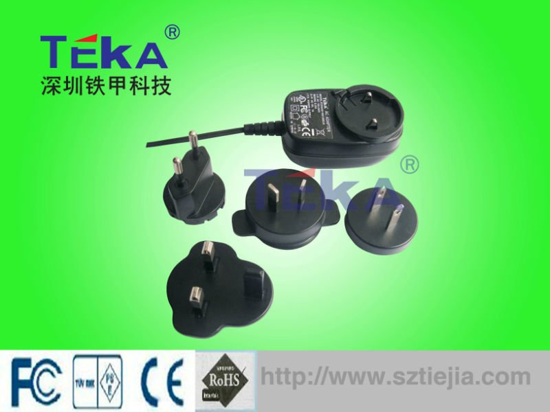 high quality 6W 3V 2A converters and interchangeable plug