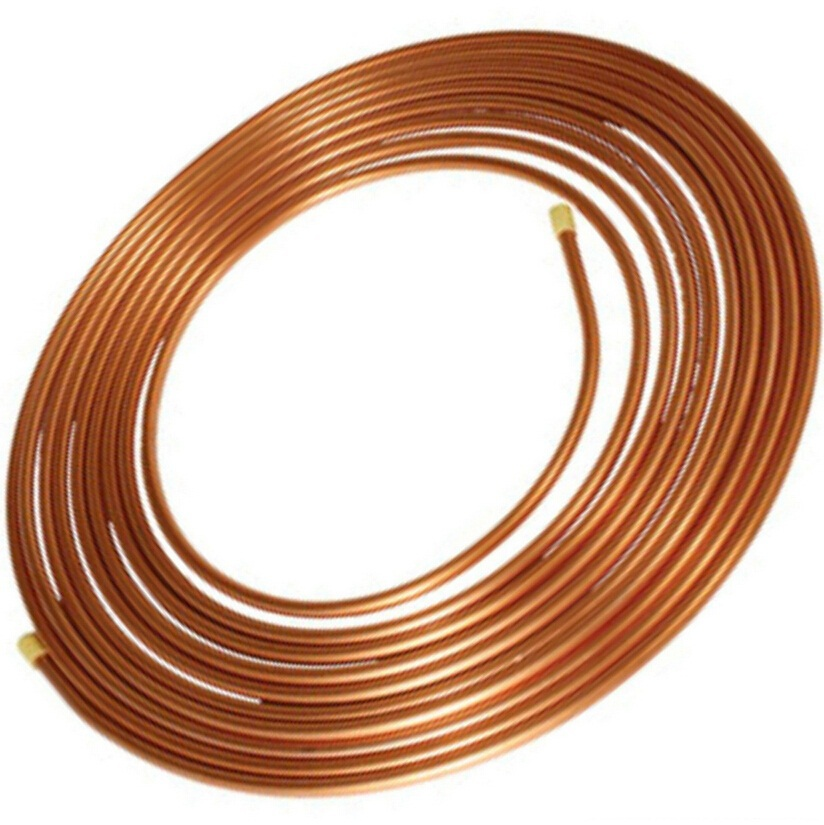 Steel Copper Coated Tube,Copper Brazed Bundy Pipe 6.35mm 0.71 Mm ...