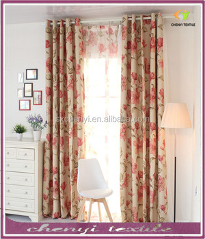 European Style Custom Printed Blackout Window Curtain
