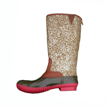 fcd1afcceba1 Monogrammed Women Rain Snow Tall Glitter Duck Boots - Buy Tall ...