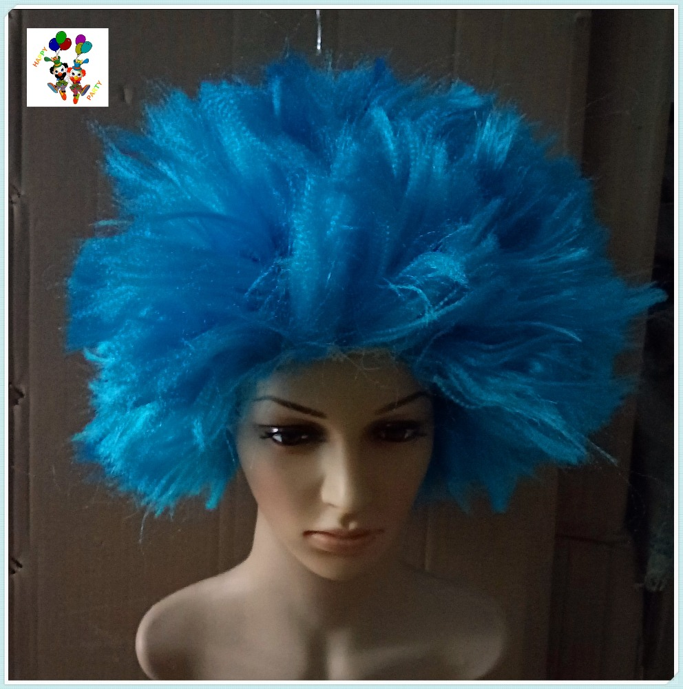 Wholesale Dr Seuss Thing 1and 2 Blue Synthetic Party Wigs HPC-2529