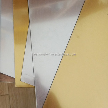 Plastic Application Mirror Silver PET Hot Stamping Foil For ABS Double Color Sheet