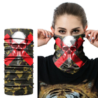 Pirate Custom Neck Tube Skull Face Shield Mask Camo Skull Bandana Headband multifunction