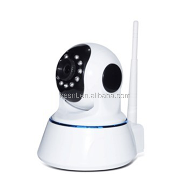 Wireless wifi P2P pan tilt alarm push 32G IR distance 10m motion detection HD 720P ip camera indoor BS-IP24