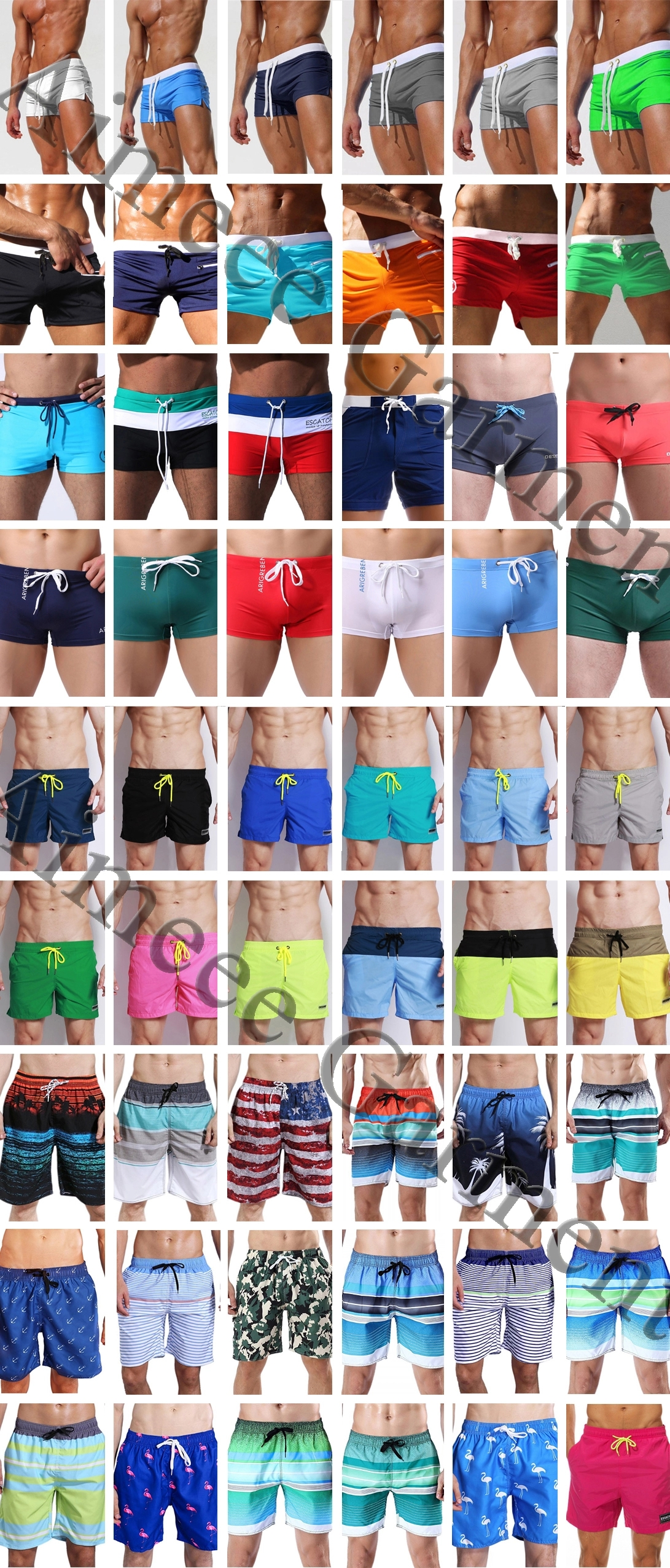 Private Label  Floral Swimwear Beach Shorts Men Swim Trunks
