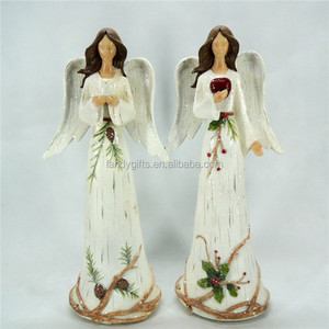 "Christmas Angel Collection Resin Angel Figurines Statues,12""-Inch"