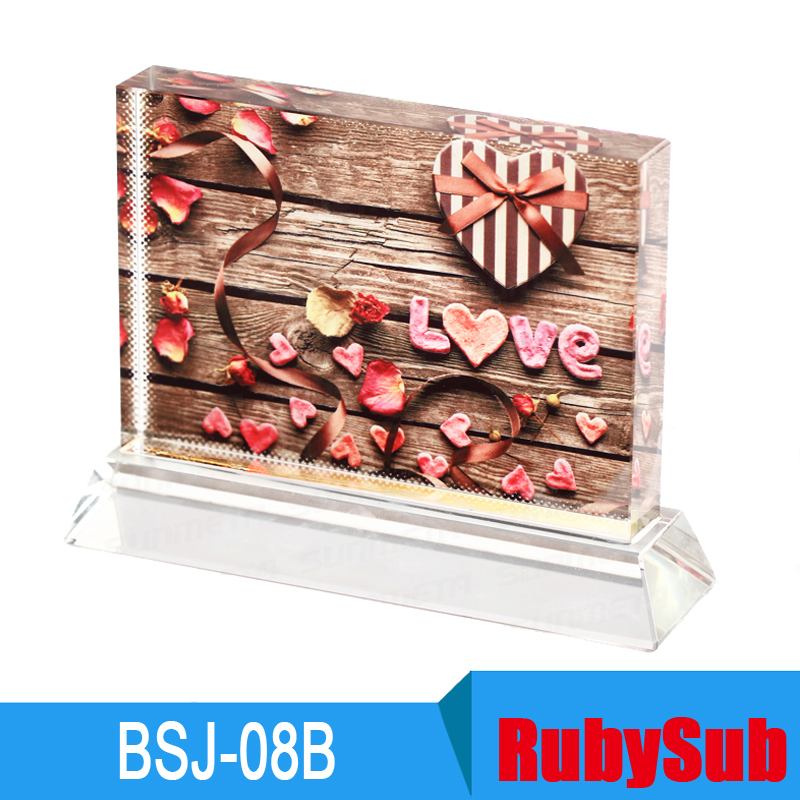 11x16cm Sublimation Crystal Photo Blanks UV Crystal BSJ-08B