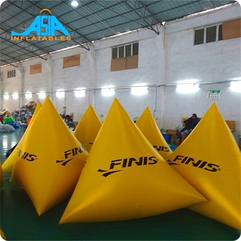 Inflatable Triangle/Pyramid Air Buoys for ocean park/river/lake, Floating Barriers Bouy