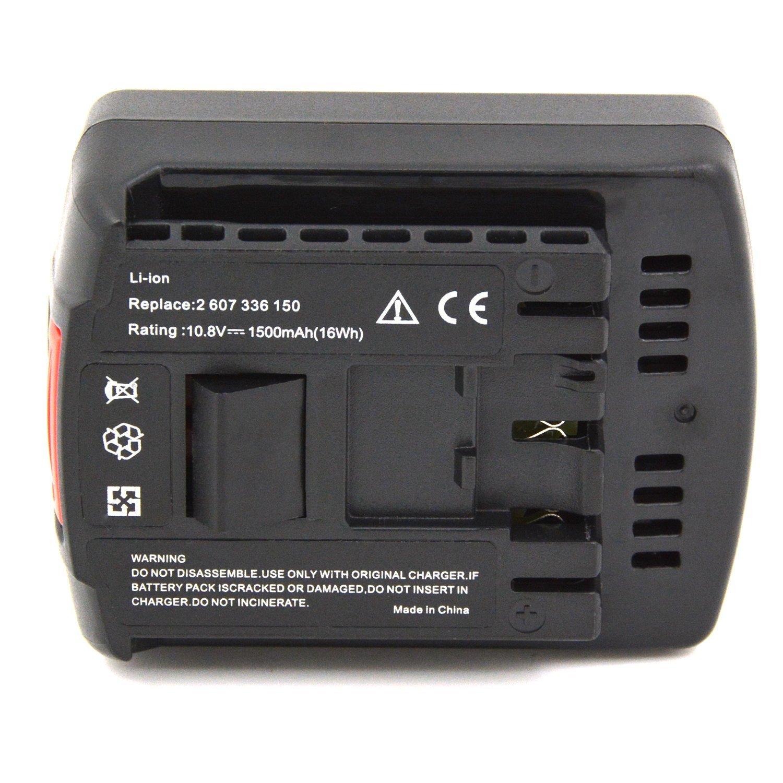Power Tools Battery for BOSCH GDS 14.4 V-LI, GDS 14.4 V-LIN, GSB 14.4 VE-2-LI, GSB 14.4 VE-2-LIN, GSR 14, GSR 14.4 VE-2-LI, GSR 14.4 V-LI, GSR 14.4 V-LIN, PB360S - 1500mAh, 10.8V