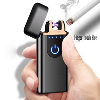 2018 new design cigarette usb double arc rechargeable electric plasma LIGHTERS